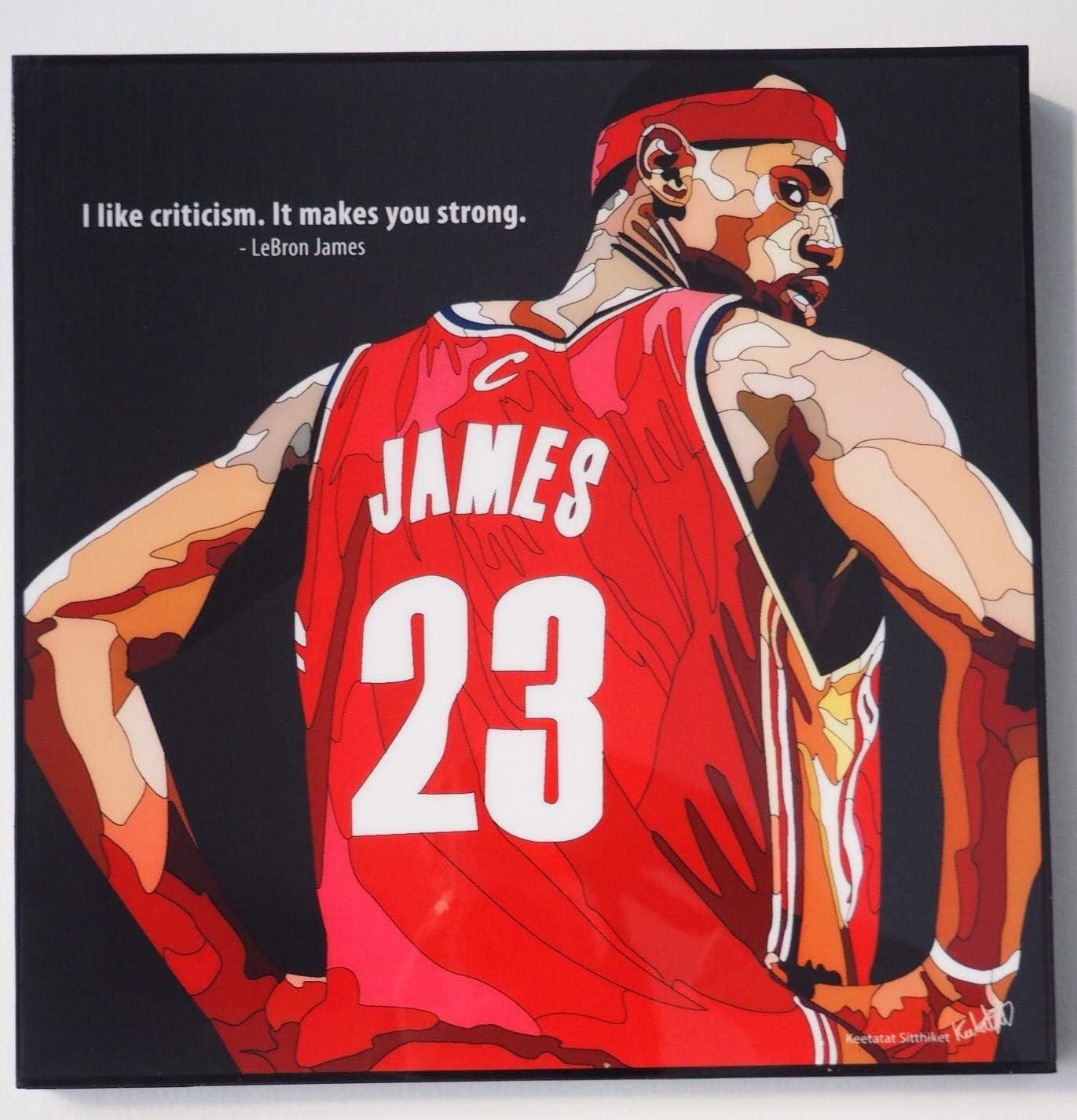 Glagoods Lebron James Miami Heat La Lakers Nba La Lakers Basketball Sports Pop Art Canvas Framed Wall Art Prints Poster Vinyl Gift Quotes Amazon Co Uk Kitchen Home