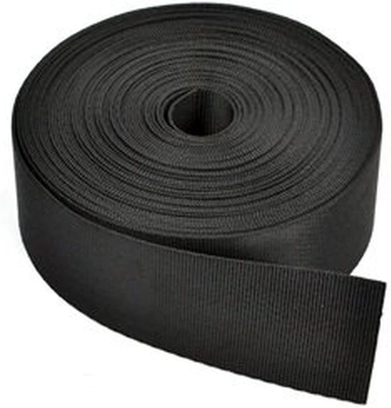 BLACK Nylon Webbing 2 inches wide 10 yards Top Quality