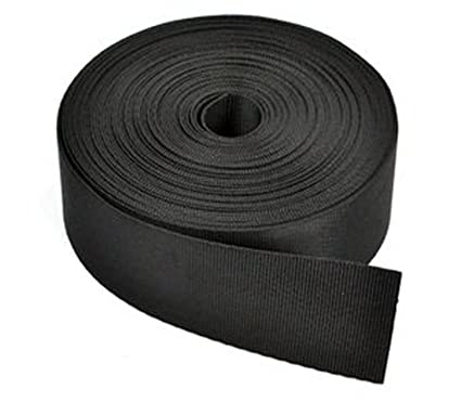 Learned Black 50mm 2 Inch Nylon Webbing X 10 Meters Buy 2 Get One Free Climbing & Caving