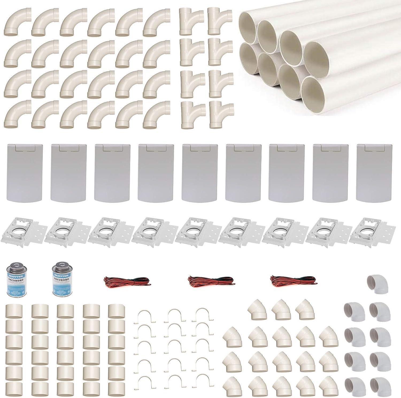 Kit de instalación de aspirador central para 9 tubos de aspiración ...