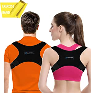 Posture Corrector for Women Men - Posture Brace - Adjustable Back Straightener Upper Back Brace for Posture Support - Back Posture Effective for Neck Shoulder Pain Relief Posture Trainer for Alignment