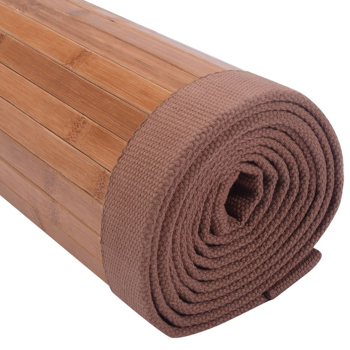 5' X 8' Bamboo Area Rug Floor Carpet Natural Bamboo Wood Indoor Outdoor New Durable Natural Bamboo Construction Easy To Clean And Durable by Unknown (Image #6)