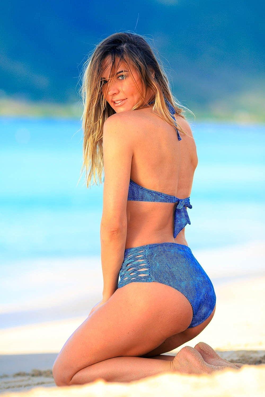 Bikini-Hose High-Waist Slip Emmatika Denim Tika Blau