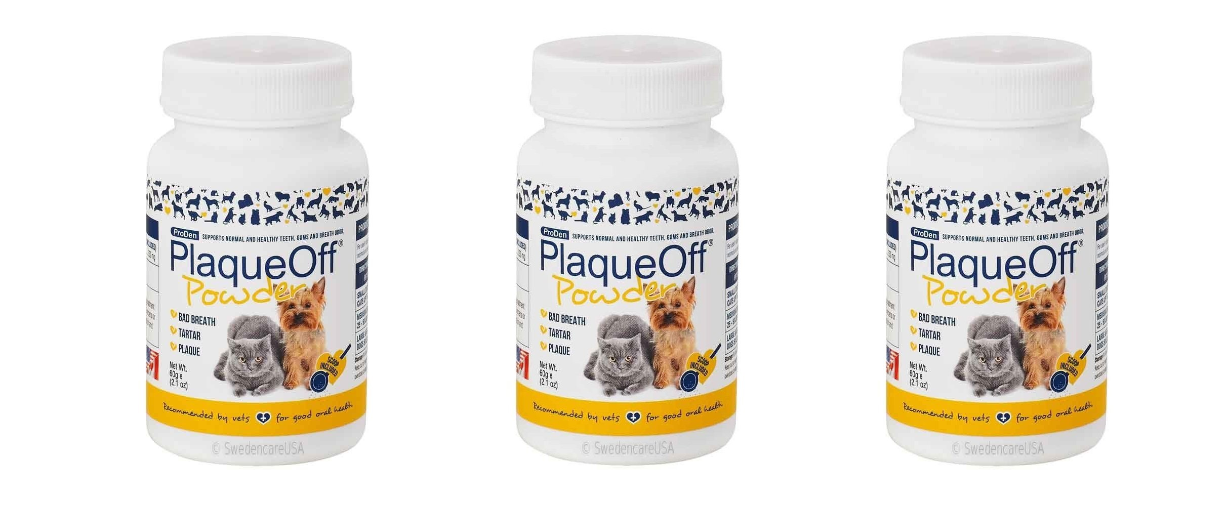 Proden PlaqueOff Dental Care iXYQMn for Dogs and Cats, 60gm (3 Units)