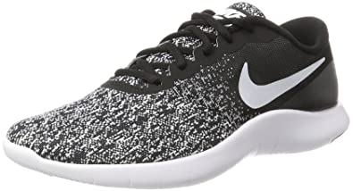 Nike Mens Flex Contact Running Shoes Black White ...