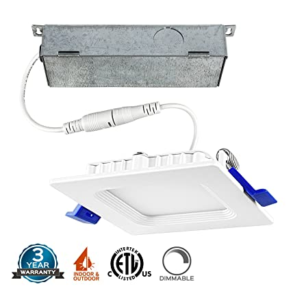 Low Profile Led Recessed Lighting Beauteous 60 Inch Square Ultra Thin LED Recessed Ceiling Light Fixture Luxrite
