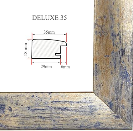 DELUXE35 Bilderrahmen 66x91 cm oder 91x66 cm Foto//Galerie//Posterrahmen