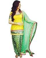 Spangel Enterprise Patiyala Suit for Women Clothing Designer Party Wear Today Offers Low Price Sale Top Yellow Color Pure Cotton Fabric Free Size Panjabi Patiala Salwar Kameez Dress Material
