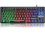 K16 Bedraad 87-toetsen gamingtoetsenbord Mechanisch gevoel Regenboog LED-achtergrondverlichting Waterdicht Ergonomisch…