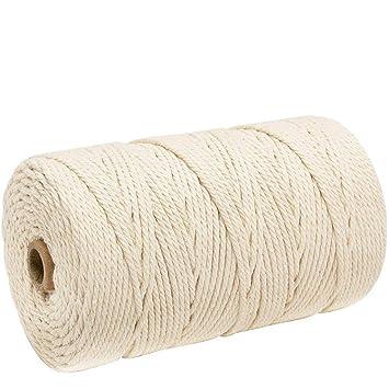 Amazon.com: Cordones de algodón, 0.118 in x 656.2 ft ...