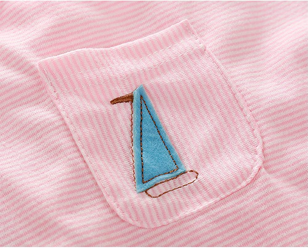 Kimocat Unisex-Baby Clothes Summer Cotton Romper Suspenders Shorts Outfit Set