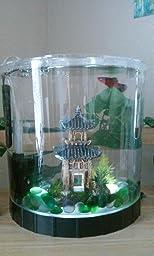 Amazon Com Tetra Led Half Moon Betta Aquarium 1 1