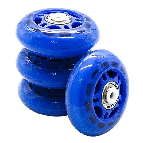 HUELE 4 Ruedas de Repuesto para Patines en línea con rodamientos Azules de 2,75 Pulgadas: Amazon.es: Hogar