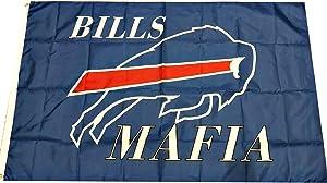 APFoo Bills Mafia Buffalo Bills Flag Banner Size 3X5 Feet Man Cave Decor