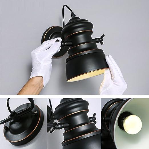 Amazon.com: JUIANG Antique Retro Iron Swing Arm Light Industrial Wall Lamp Retro Indoor Bedroom Balcony Bar Aisle Lamps LED E27: Kitchen & Dining