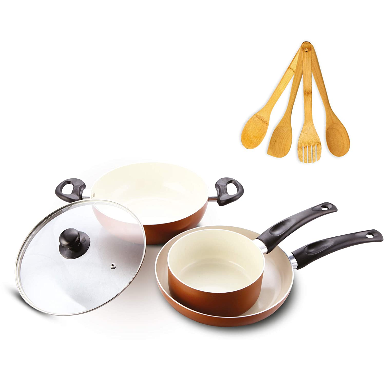 Impex Ceramic Coated Nonstick Aluminium Cookware Set