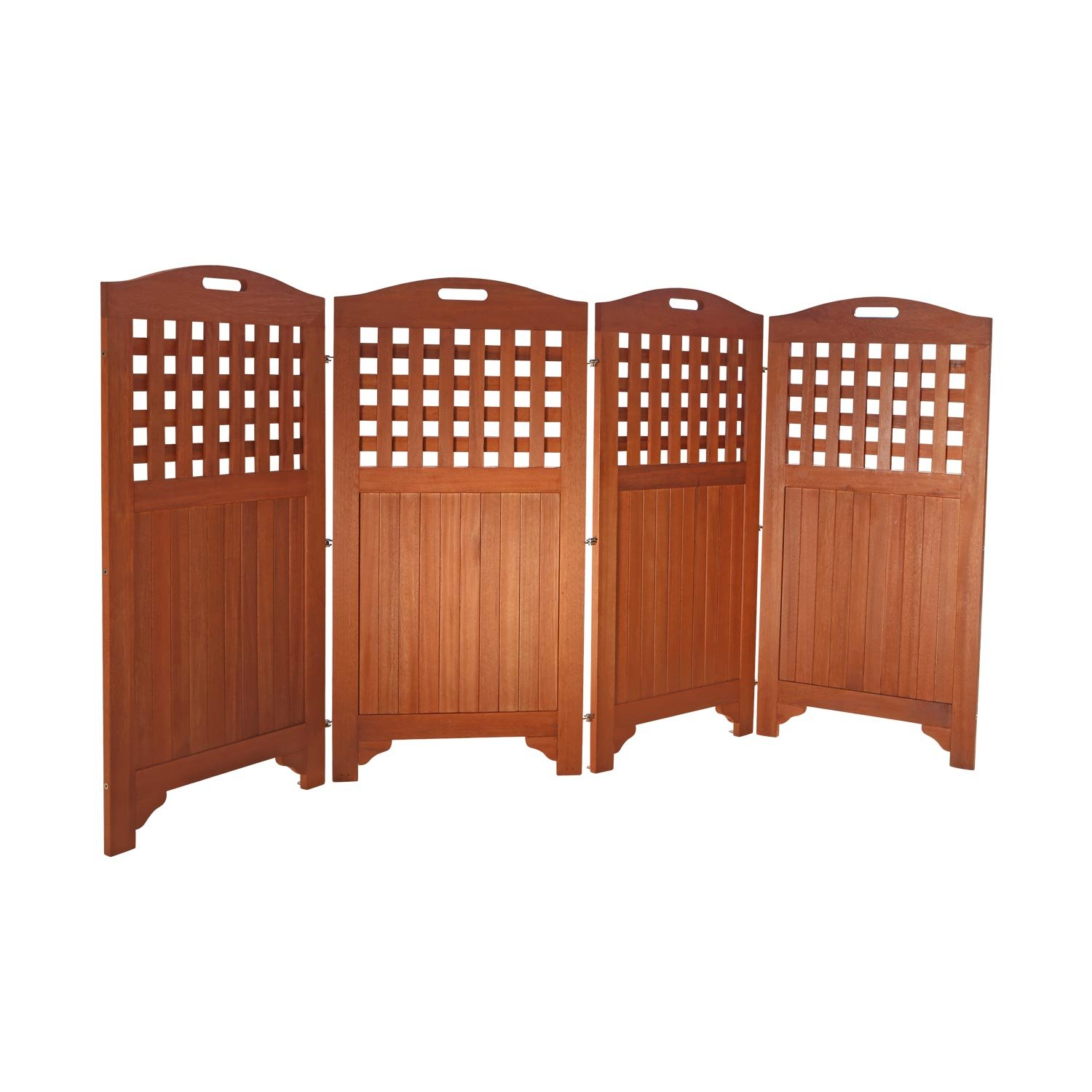 Amazon.com : Vifah V163 Acacia Hardwood Privacy Screen : Outdoor ...