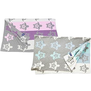 80x100cm Geschenkschachtel inkl quschel® Babydecke aus 100/% Bio-Baumwolle
