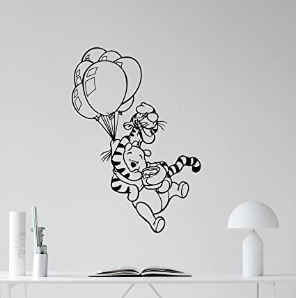 Winnie The Pooh Wall Decal Tigger Air Balloons Lettering Vinyl Sticker Wall Decor Cool Wall Art  sc 1 st  Amazon.com & Amazon.com: Winnie The Pooh Wall Decal Tigger Air Balloons Lettering ...
