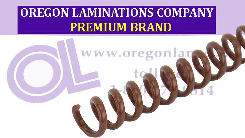 Spiral Binding Coils 7mm 9//32 x 12 4:1 Medium Brown pk of 100 PMS 469 C