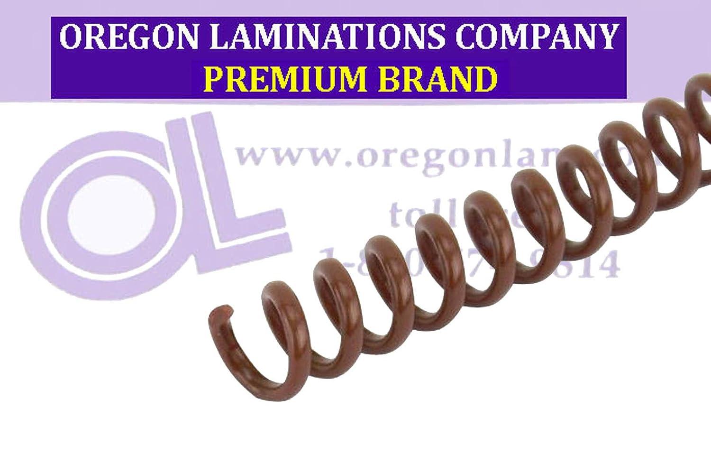 5//16 x 12 PMS 469 C Spiral Coil Binding Spines 8mm 4:1 pk of 100 Medium Brown