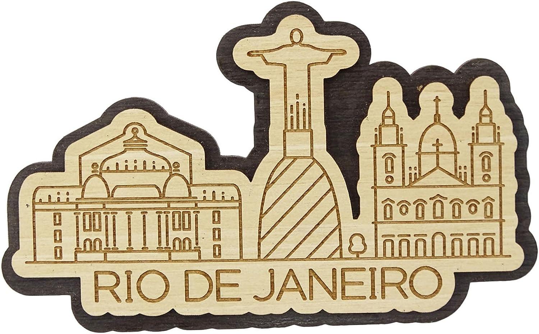 Printtoo Souvenir Decirative Rio De Janeiro Brazil Engraved Wooden Custom Fridge Magnet