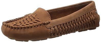 UGG Womens Clary Chestnut Nubuck Loafer 5 B ...