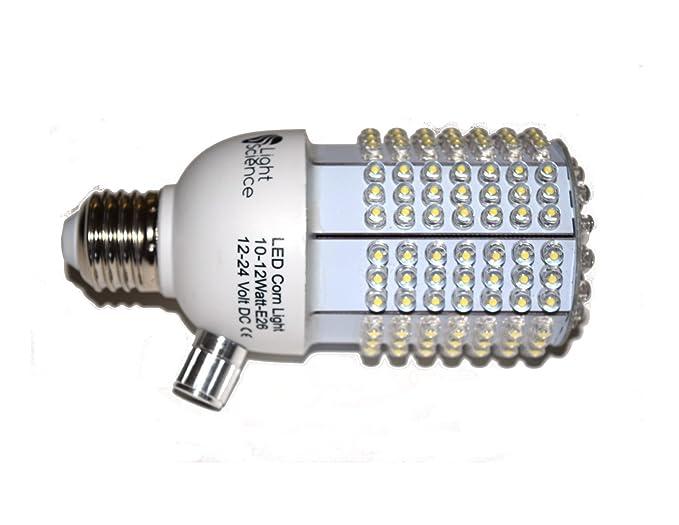 12 Volt DC LED Corn Light, Built-In Dimmer, 5000K, for Off