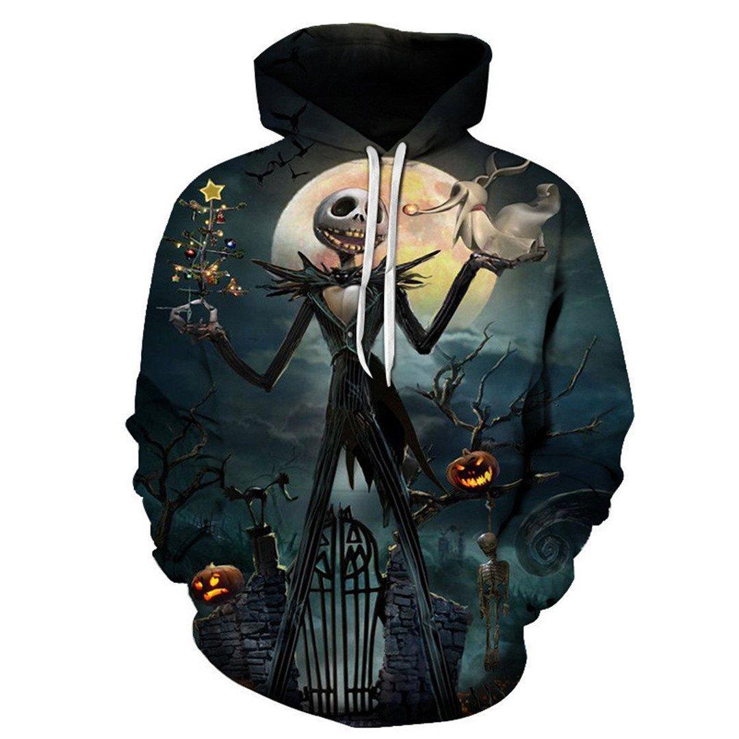 LJFKDFSC New Halloween 3D Hoodie Sweatshirt Unisex Hoodie