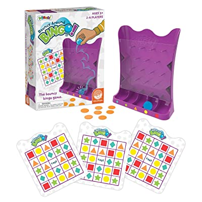 MindWare Wizmo: Bounce Around Bingo - Wacky & Active Educational Toys for Kids Ages 3 & up - Learn Probability, Shapes & Taking Turns - Boys & Girls Play Bingo Together: Toys & Games [5Bkhe0503892]