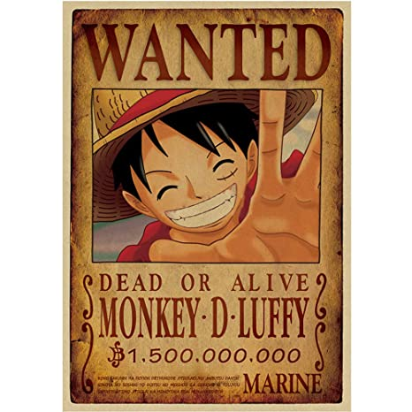 Anime One Piece Pirates Luffy Wanted Posters2018 Oct New Edition20x14inch515x36cmzoro D Luffy