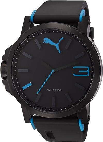 2a70b2f8c Reloj Puma Análogo negro con azul para Hombre  Puma  Amazon.com.mx ...