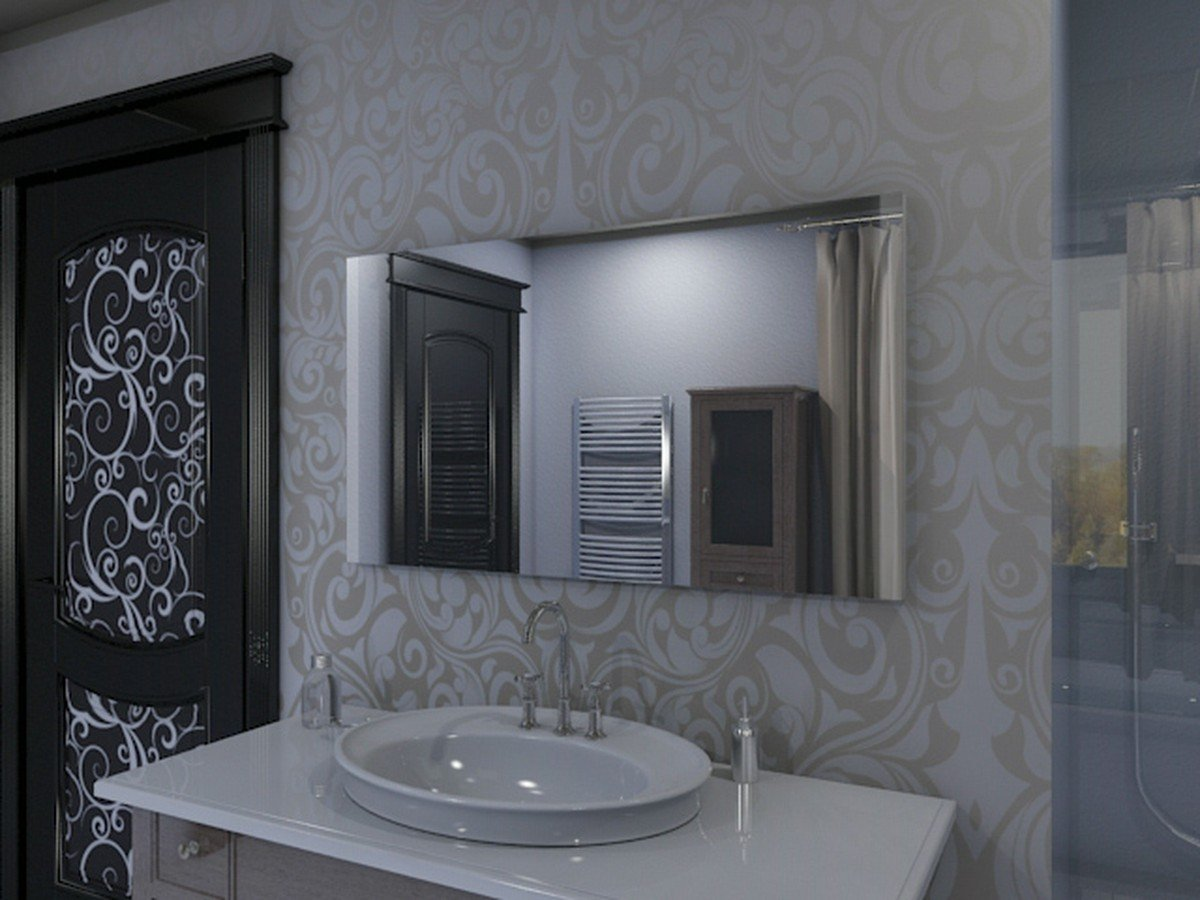 Super Badspiegel mit Beleuchtung Iona M313N2V: Design Spiegel für  PW17