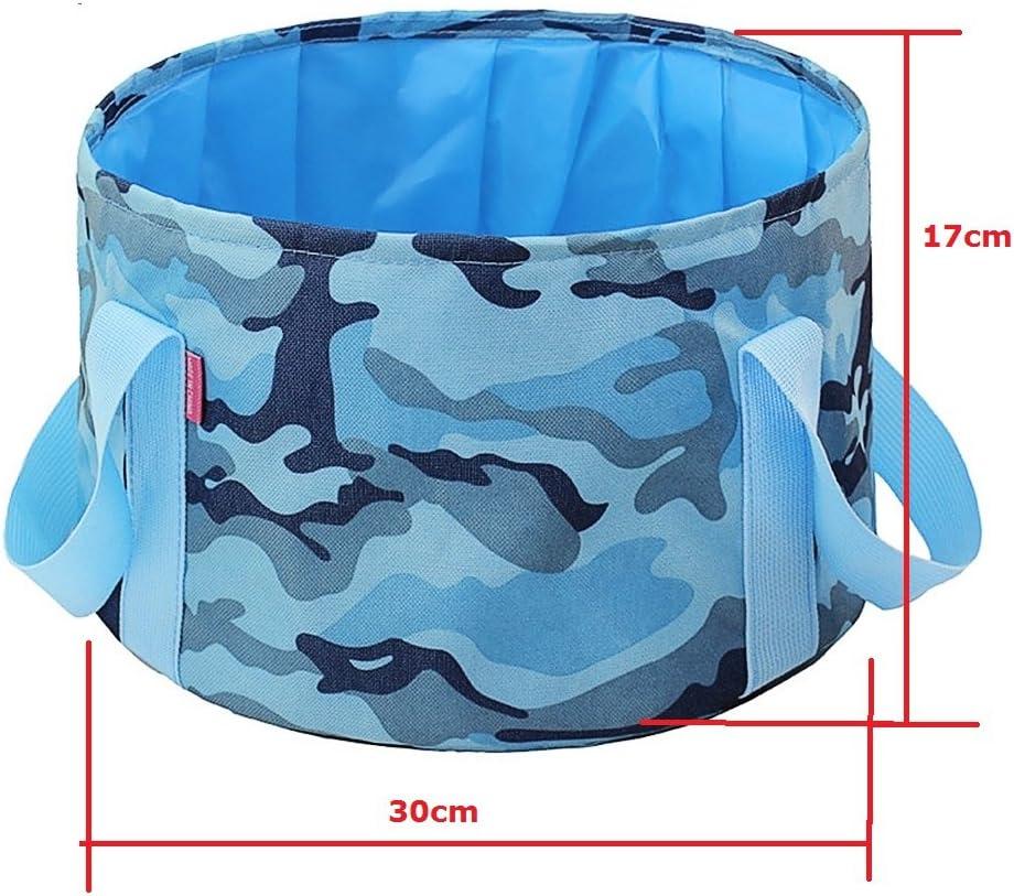 Uso dom/éstico Bllomsem Cubo Plegable Cubeta de Agua port/átil Multiuso Ligero y f/ácil de Transportar Deportes al Aire Libre Cubo de Agua para Lavado de Autos Capacidad de 15L Apto para Acampar
