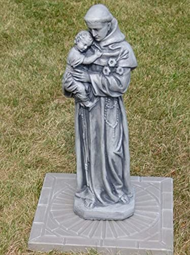 25 Marble St. Anthony Outdoor Patio Statue