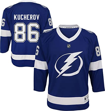 Outerstuff Tampa Bay Lightning Nikita Kucherov Youth NHL Replica Jersey  (Youth Small Medium) 50f15208b
