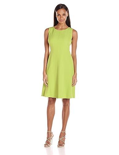 Kasper Women's Crepe Fit and Flare Dress