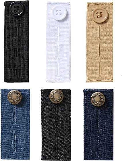 Stretch Neck Extenders Elastic Button for Shirts /& Pants 27 Pack Button Extender and Waist Pants Extender Set