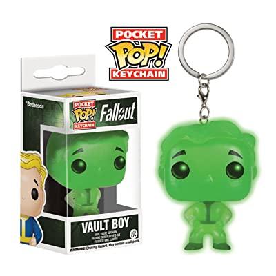 Funko Pocket POP! Keychain: Fallout - Exclusive Glow-In-The-Dark Vault Boy Figure: Toys & Games