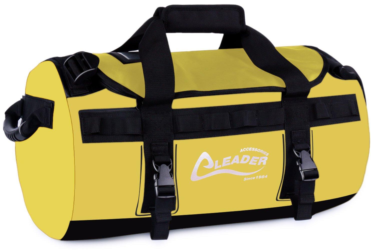 Leader Accessories Deluxe Water Resistant PVC Tarpaulin Duffel Bag Backpack(Yellow, 40L)
