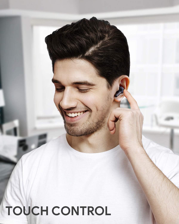 St/ér/éo Hi-FI Oreillette pour iPhone et Android AUKEY /Écouteurs Bluetooth sans Fil avec USB-C Charge Rapide Upgraded Appariement Automatique 25 Heures dAutonomie IPX5 /Étanche