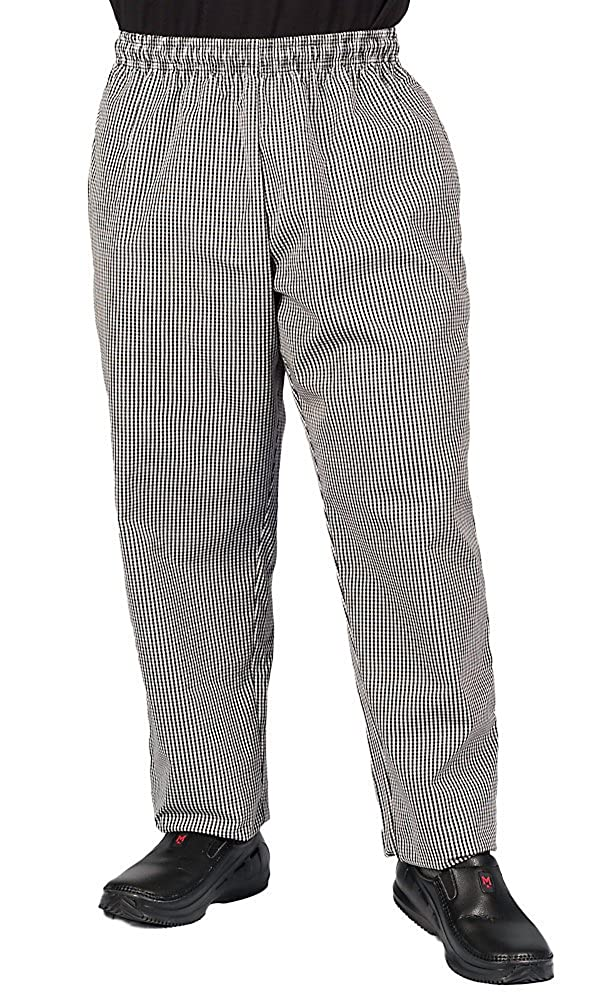 KNG Checkered Plaid Baggy Chef Pant 1056