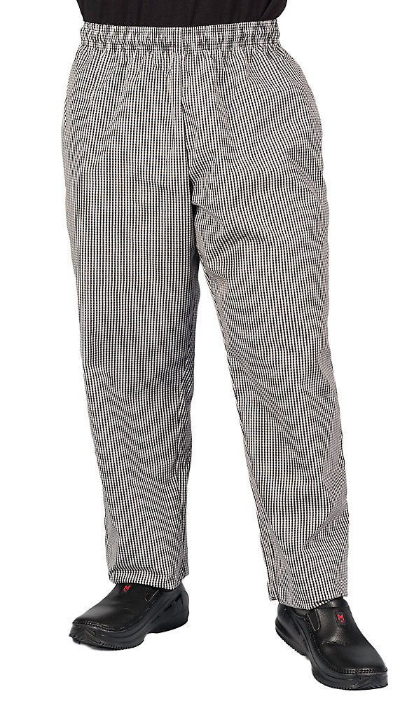 KNG Checkered Plaid Baggy Chef Pant, M