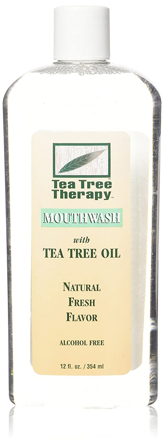 Tea Tree Therapy Alcohol Free Natural Mouthwash 12 Ounces 50360