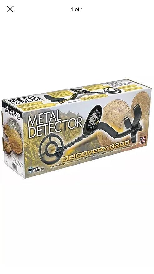 Bounty Hunter Discovery 2200 con libre pin-pointer detector de metal