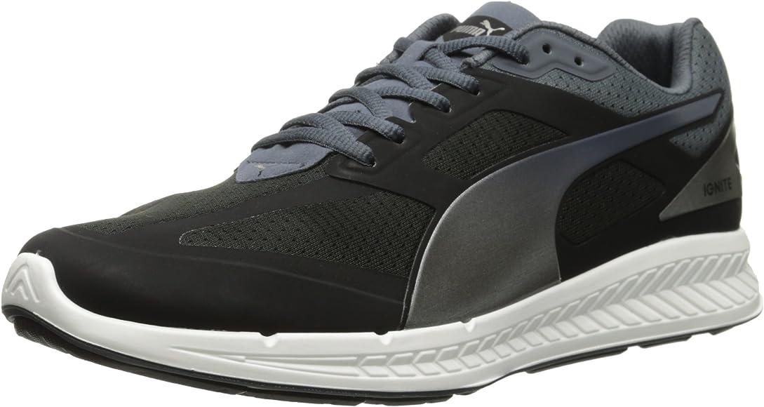 Ciudadano flojo presidente  Amazon.com | PUMA Men's Ignite Sneaker, Black/Turbulence/Silver, 8 M US |  Road Running
