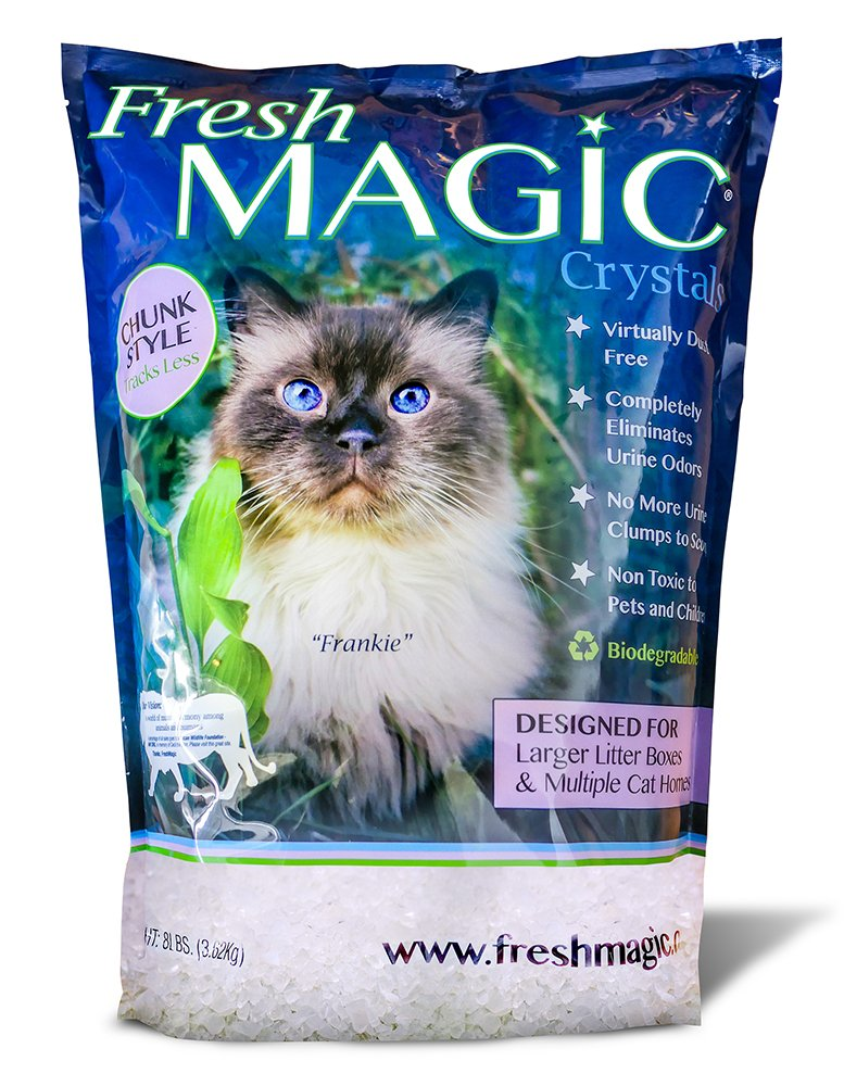Premium Crystal Litter – Larger Chunk Shape Lasts Longer Tracks Less. Ever Growing Band of Fresh Magic Loyalists Find Out Why