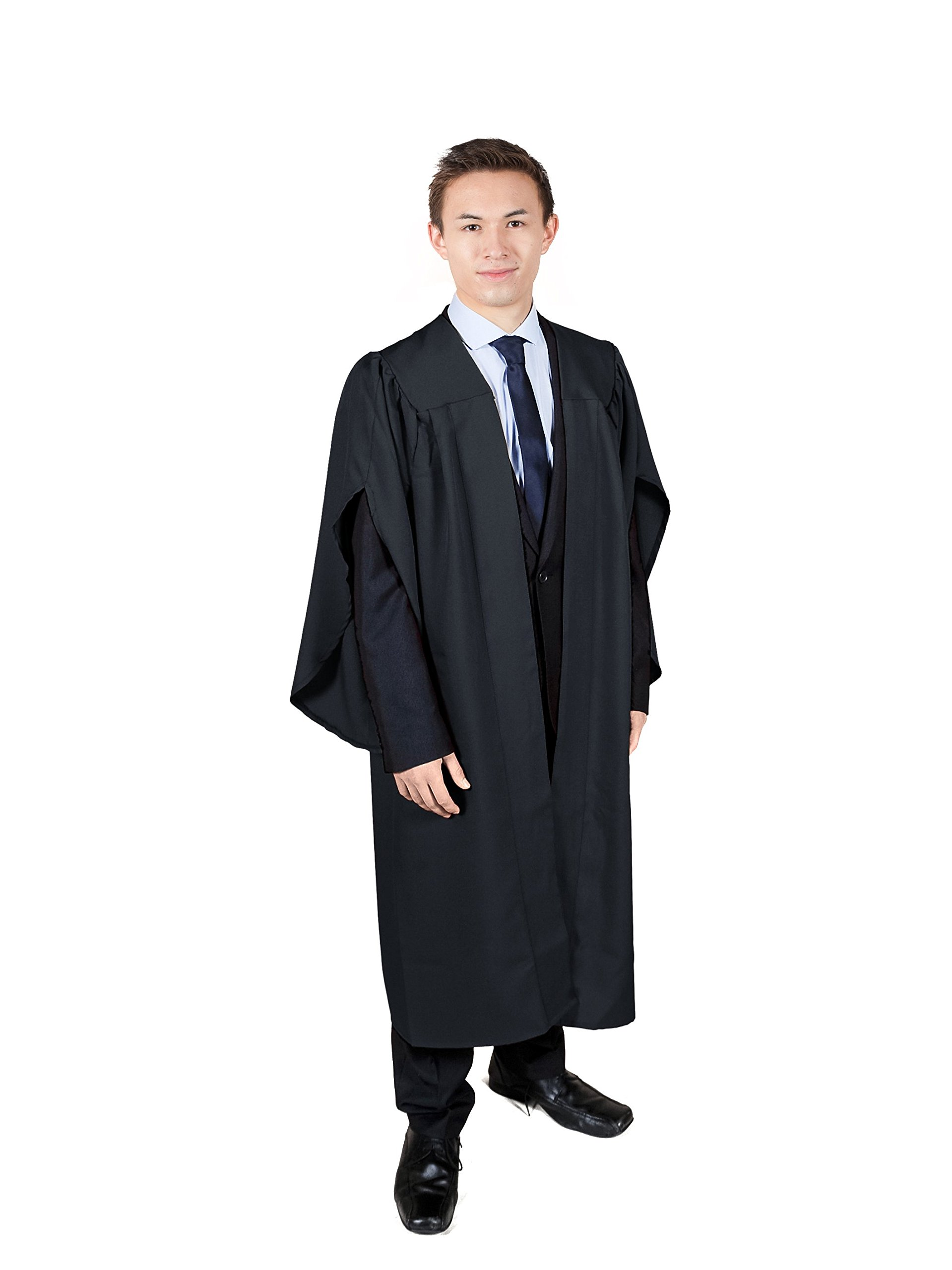Graduation Attire Black Open Front Choir Robe (Height 5'6-5'8)