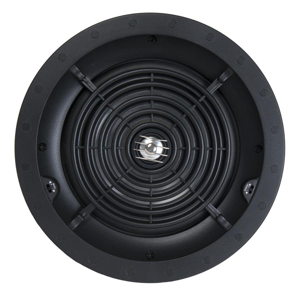 SpeakerCraft Profile CRS8 Three 8'' In-Ceiling Speaker - Each (Black with White Grill) by SpeakerCraft