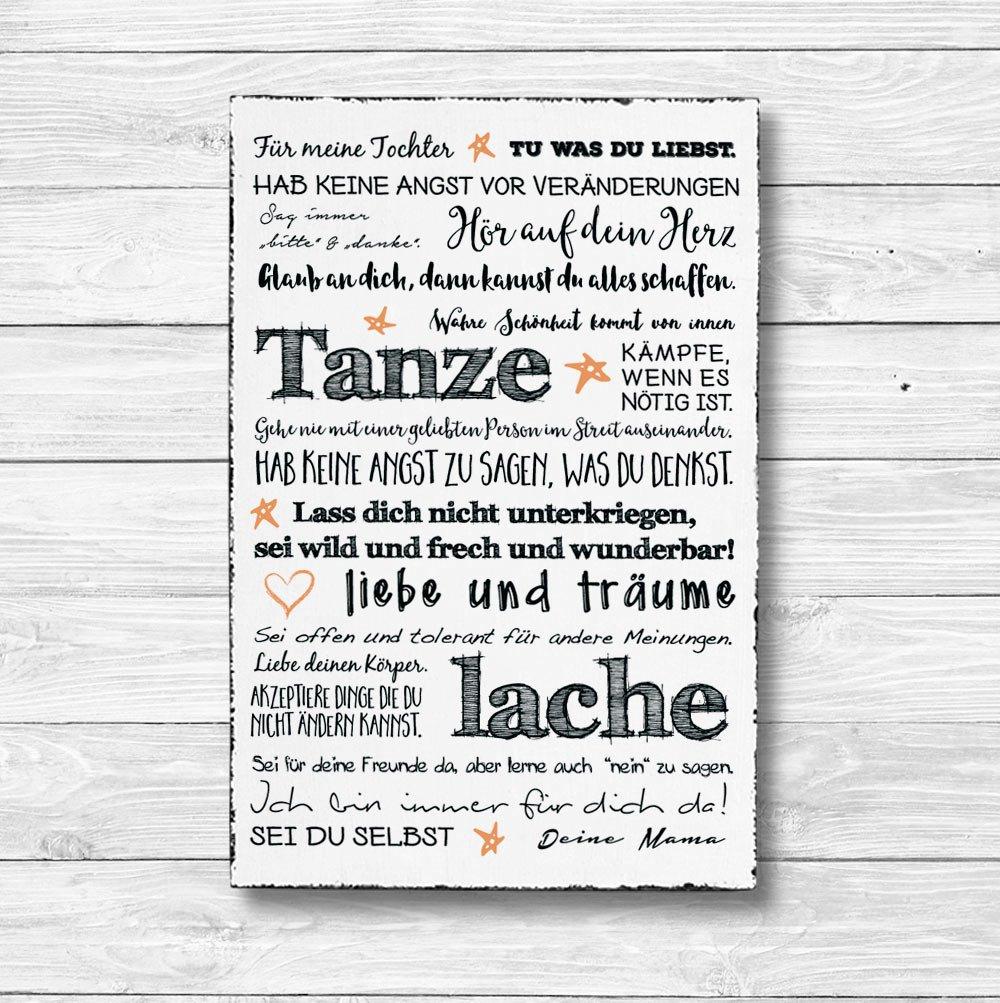 Dekoschild Wandschild Holz Deko Wand Schild 20x30cm Holzdeko Holzbild Geschenk Mitbringsel Geburtstag F/ür meine Tochter